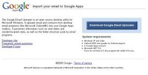 Google Email Uploader for Apps