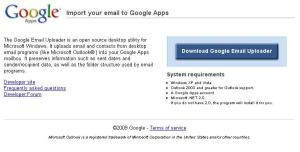 Google Email Uploader for Apps