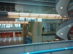 view from the media cafe into the main atrium - spiral staircase on RHS