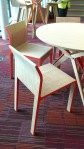 Stylised chairs and table