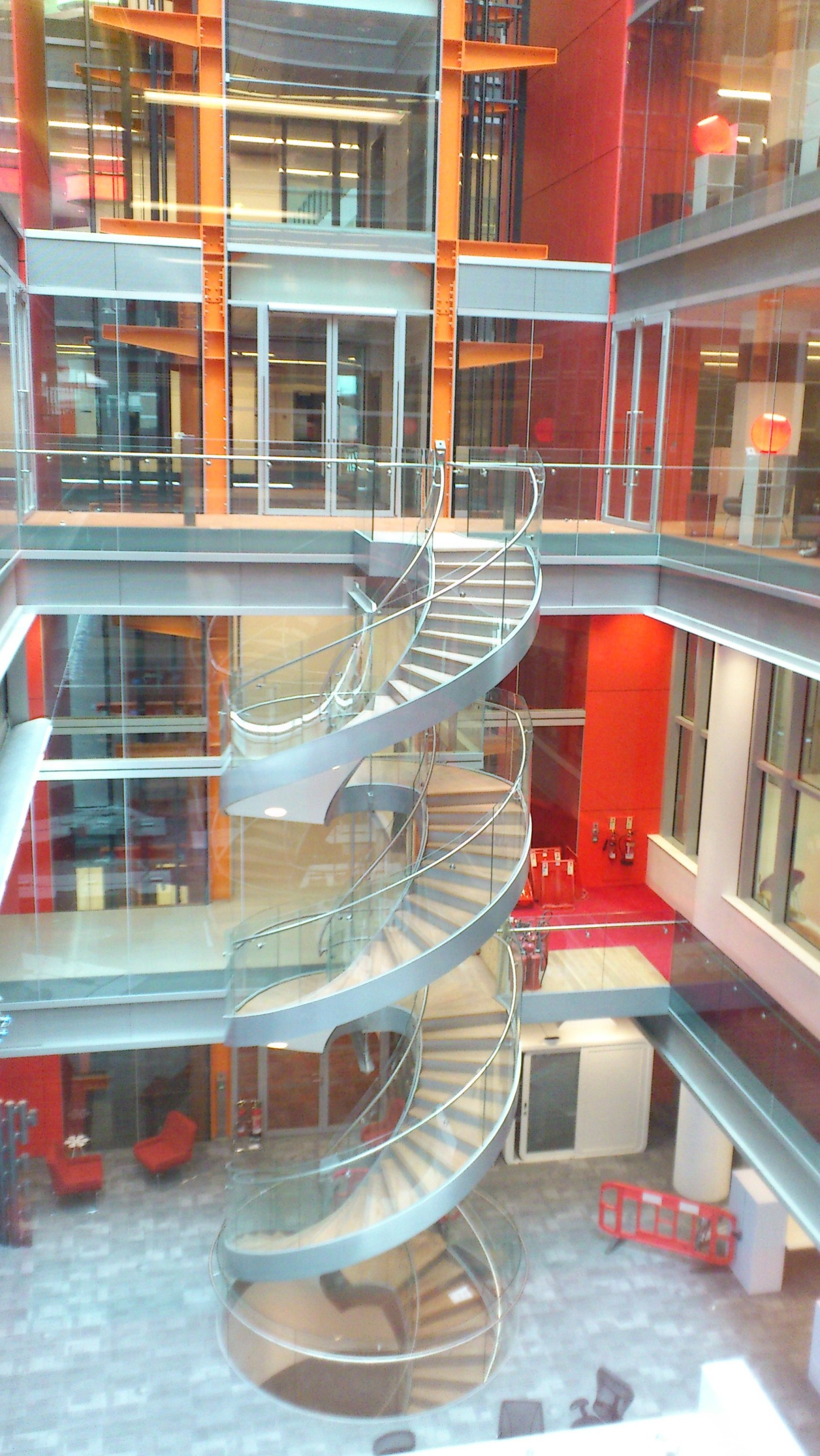 incredible view of spiral staircase