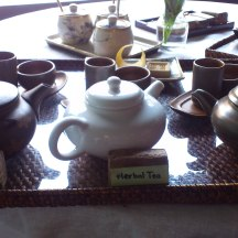 3 kinds of tea - Oolong was the best!