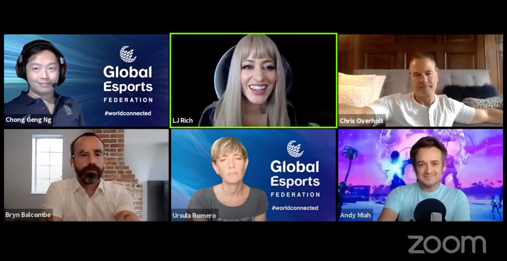 AI for Good virtual summit - video conference call hosted by LJ Rich for the United Nations